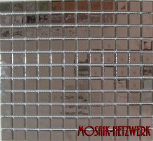 Simple Argent Mosaïque Glasmosaik Carreaux Miroir Cuisine Aspect Chrome 60-0206 | 10 Nattes-en Fr-fr Afficher Le Titre D'origine