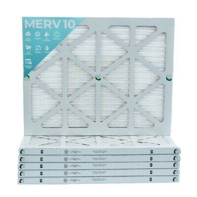Actual Size 11-3//8 x 23-3//8 x 7//8 12x24x1 MERV 10 Pleated Air Filters for AC and Furnace 12 Pack