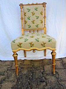 Chaise-bois-sculpte-dore-Napoleon-III-epoque-19eme