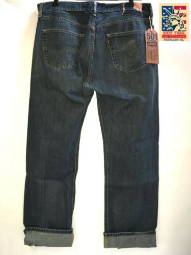 Levi's 501 Jeans Distressed Faded Vintage Denim t… - image 1