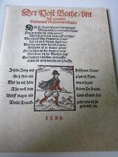Post Archiv Edition 2 27 Der Postbote bin ich Broschüre von 1591 Nachdruck