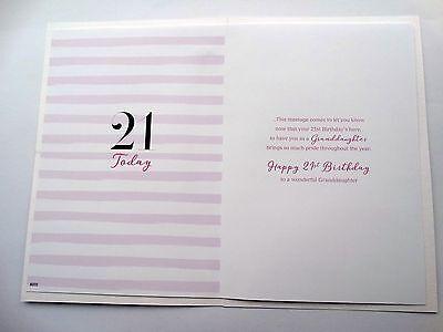 Nieta 21st 21 Perfume Zapatos y Mariposa Diseño Feliz Cumpleaños Tarjeta