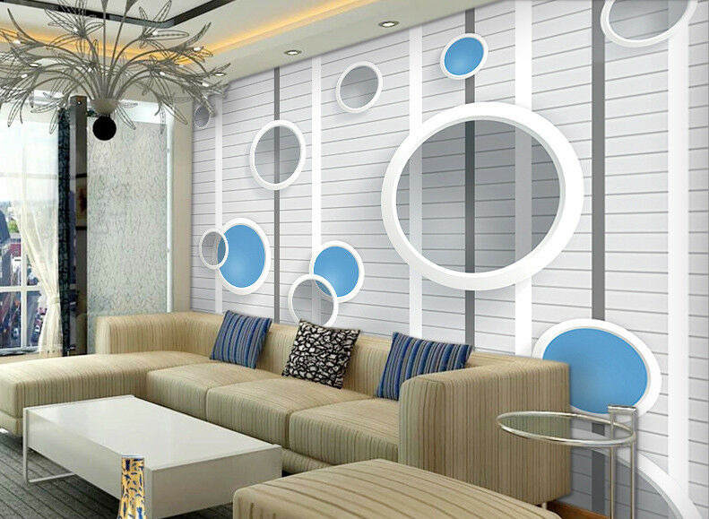 3D Niedlich Gestreifter Kreis 88  Tapete Wandgemälde Tapeten Bild Familie DE