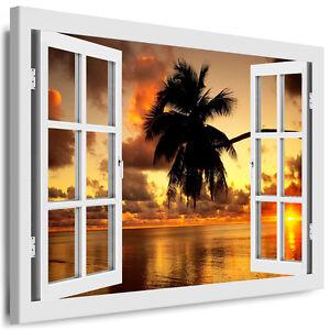 leinwand bild fensterblick boikal bilder xxl kunstdrucke 3d effekt wandbilder ebay. Black Bedroom Furniture Sets. Home Design Ideas