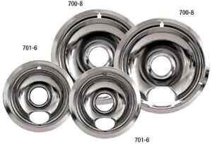 4 Set Universal Electric Range Chrome Reflector Bowls
