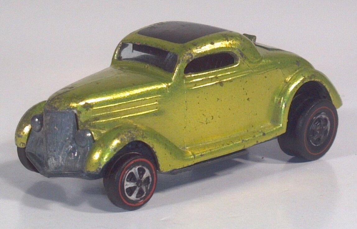 Vintage Hot Wheels rojoline Classic 36 Ford Coupe anticongelante verde 2.5  Diecast