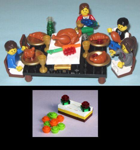 MOC-MADE OF LEGO BRICKS TURKEY BANQUET DINNER FOOD FEAST Christmas Thanksgiving
