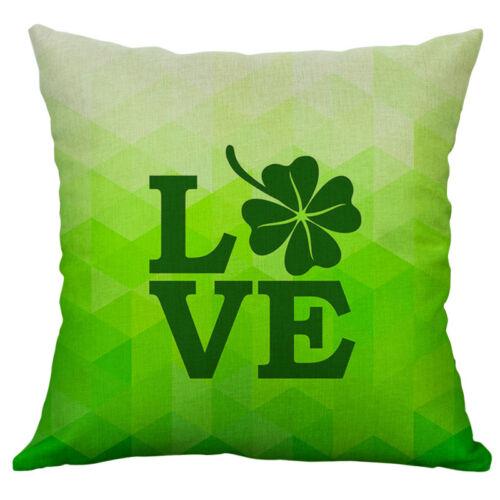 Patrick/'s day Print Cotton Linen Pillow Case Cushion Cover Home Decor St