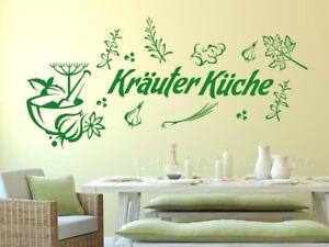 Wandtattoo Wandaufkleber Set Tattoo für Küche Spruch Kräuterküche ...