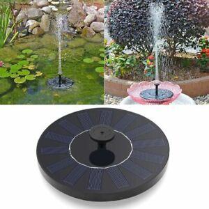 Floating Solar Powered Pond Garden Water Pump Fountain Pond For Bird Bath NEW GA