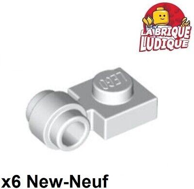 x6 Plate Modified 1x1 clip ring trou anneau noir//black 4081b NEUF Lego