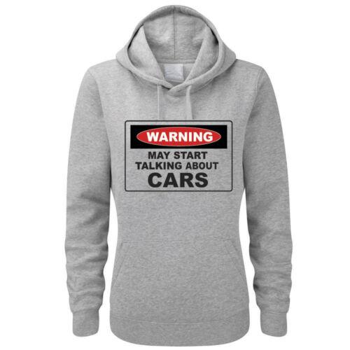 Gift Women/'s Hoody Vehicles START TALKING ABOUT CARS Fun Hoodies Motor