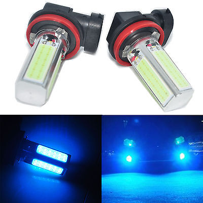 2X H8 H11 Ice Blue COB LED Fog Light Driving Lamps 20W DRL Daytime Running Bulbs