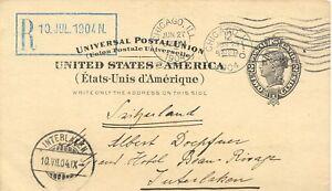 USA-1904-2-C-GA-von-CHICAGO-n-INTERLAKEN-Schweiz-Befoerderungsdauer-nur-13Tg
