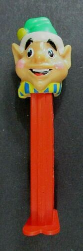 Christmas Elf Green Hat Red Bot PEZ Candy Dispenser FREE SH