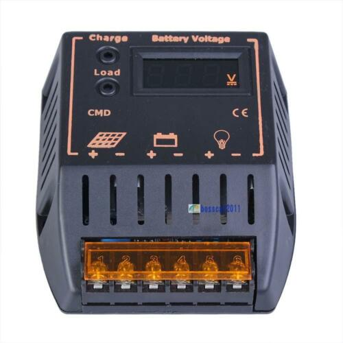 1 of 1 - LCD 20A Solar Panel Battery Regulator Charge Controller 12V/24V Autoswitch CE BS