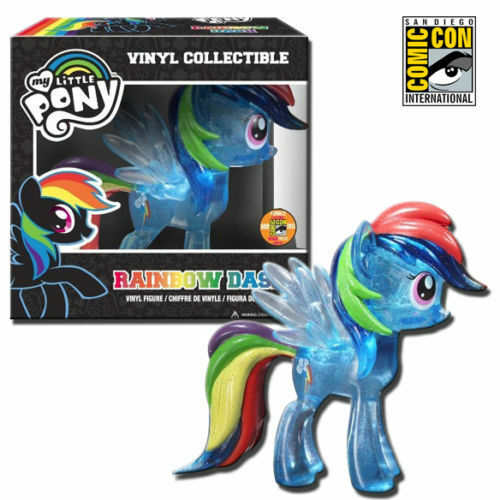 SDCC 2013 Funko My Little Pony Rainbow Dash Glitter bluee 6-Inch Figure NEW
