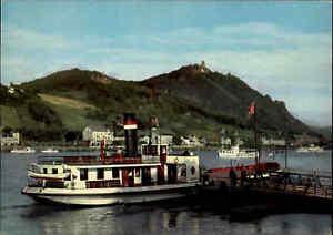Schiffsfoto-Postkarte-Rhein-Schiff-Dampfer-a-d-Anlegestelle-Koenigswinter-1960