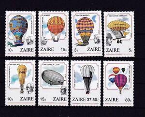 (f) Zaire Congo 867-74** Zeppelin Lz 127 Ballon Piccard Montgolfiere Prix De Vente Directe D'Usine
