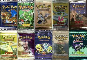 Pokemon-TCG-Booster-Packs-solo-400-paquetes-total-Base-Set-Aquapolis-Legendary-Neo
