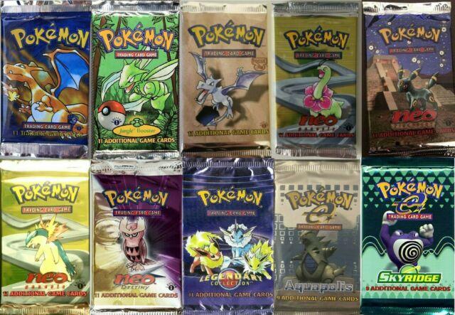 Pokemon Tcg Booster Packs Only 400 Packs Total Base Set Aquapolis Legendary Neo