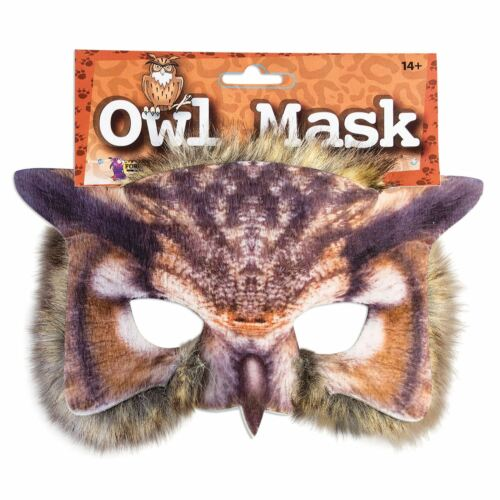 Adults Kids Realistic Fur Wise Tawny Owl Pussycat Face Mask Book Week Carnival