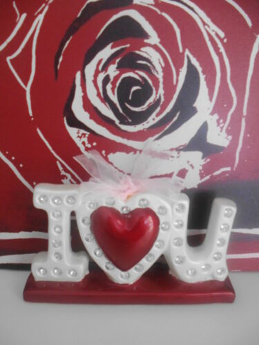 Deko Skulptur Herz Figur Ich Liebe Dich Liebesgeschenk Keramik Neu