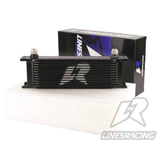 "LINESRACING Black Universal 13Row 10AN Engine Oil Cooler 3/4""UNF16  248mm"