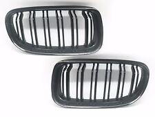 Gloss Black Front Dual Fin Grill Grille for BMW E90 E91 08-11 320i-335i Sedan WG