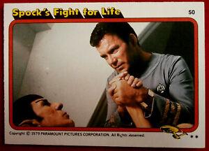 STAR TREK - MOVIE - Card #50 - SPOCK'S FIGHT FOR LIFE - TOPPS 1979