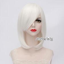 Basic Gothic Lolita White Short 40CM Bob Party Punk Cosplay Wig Heat Resistant