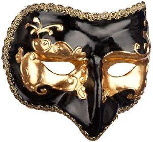 Mens Venetian Masquerade Mask Carnival Mardi Gras Halloween Fancy Dress Mask