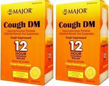Major COUGH DM 12HR ( comp to delsym ) 3oz Orange Flavor ( 2 pack )