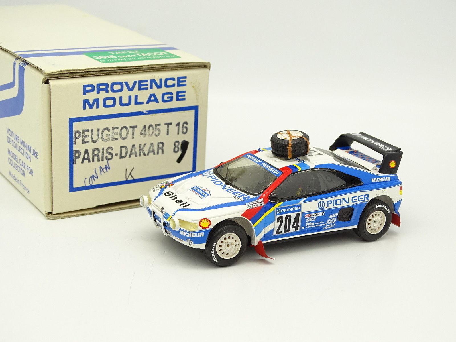 Provence Riproduzione Kit Montato 1 43 Peugeot 405 T16 Parigi Dakar 1989 Vatanen