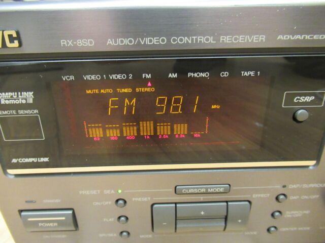 JVC RX8SD Stereo AV Receiver Amplifier NEW 85 watts Channel