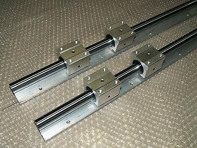 12mm linear slide guide shaft SBR12-1000mm 2 rail+4SBR12UU bearing block CNC set