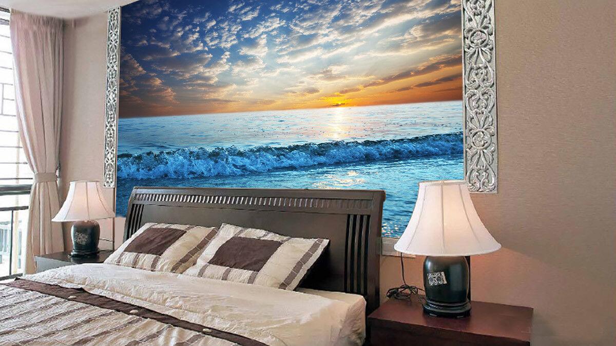 3D Meer Sonnenuntergang 84 Tapete Wandgemälde Tapete Tapeten Bild Familie DE