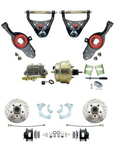 Details about 1965-68 Impala Deluxe Performance Power Disc Brake &  Suspension Package, Blk PC