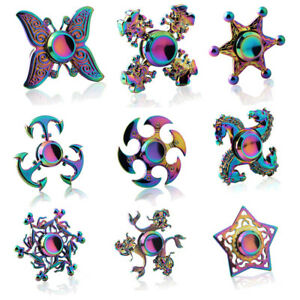 Fidget-Spinner-doigt-main-Focus-Spin-EDC-portant-stress-jouets-Rainbow-Collection