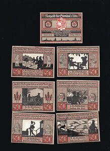 7x-Notgeld-STENDAL-Altmark-Serie-1921-50-Pf-Brauchtum-Volkskunde-top