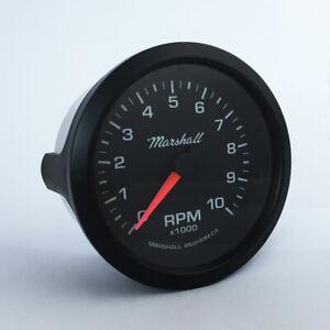 Marshall-3-3-8-034-In-Dash-Tachometer-Black-Dial-Black-Bezel-2051BLK