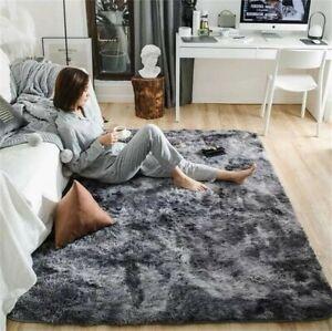 Fluffy Rugs Anti-Skid Shaggy Area Rug Carpet Dining Room Soft Floor Mat Bedroom