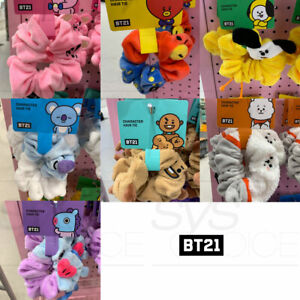 BTS-BT21-Official-Authentic-Goods-Scrunchy-Hair-Tie-7Characters-By-LINE-FRIENDS