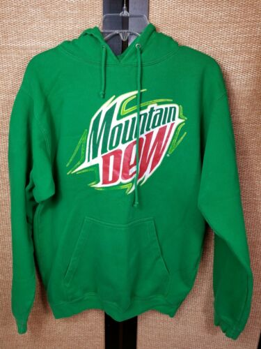 Mt Dew Advertise Green Cotton Blend Hoodie Adults