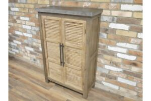 Retro-Industrial-Louvered-Door-Tall-Cabinet-Sideboard-Metal-and-Reclaimed-Wood