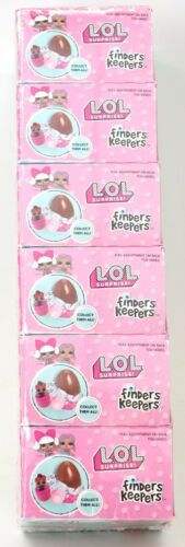 New LOL Surprise Finders Keepers Milk Chocolate Candy And Toy Surprise Lot of 6