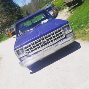 1980 Chevrolet C10 blue