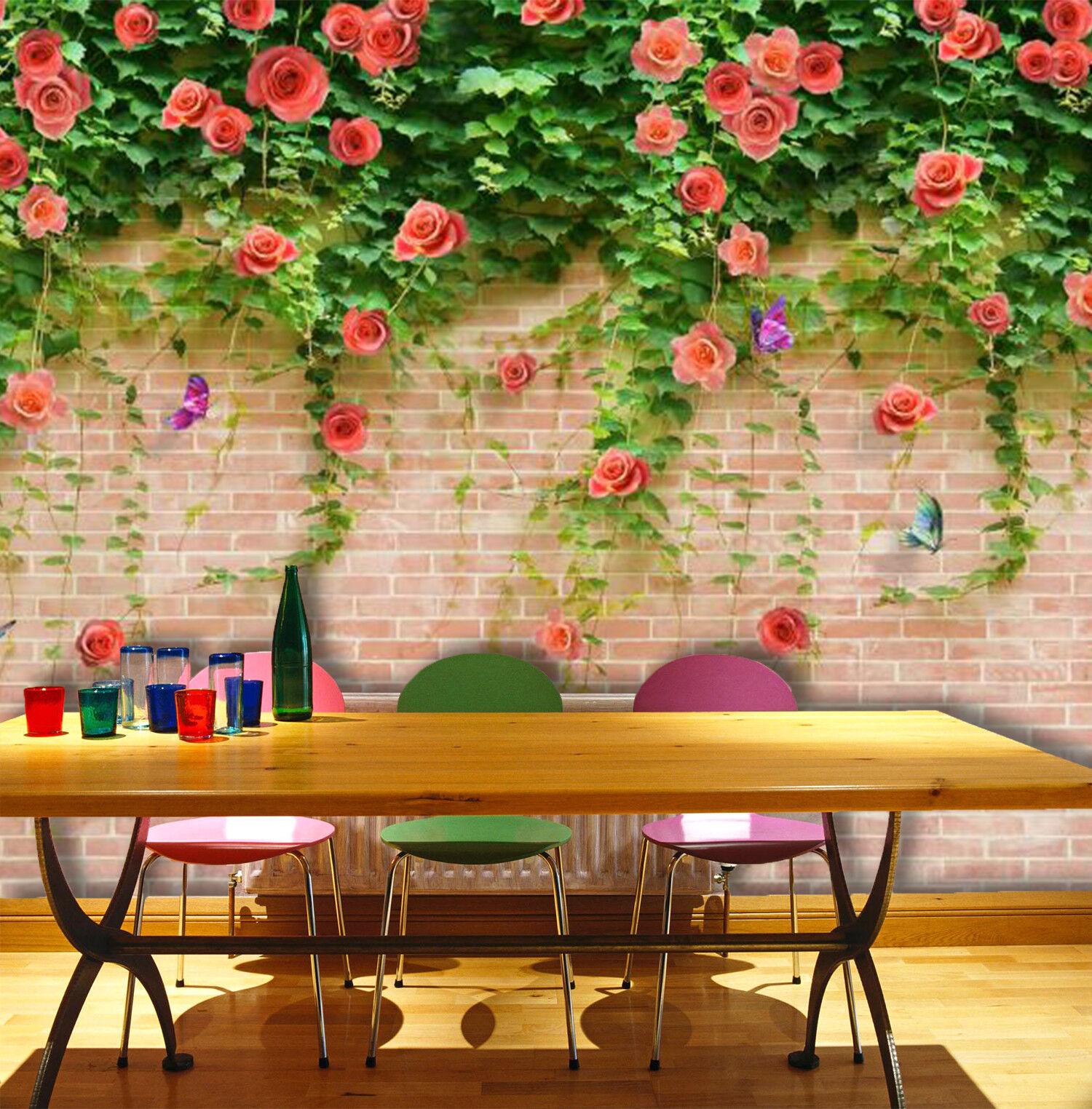 3D Flower Leaf 534 Wallpaper Murals Wall Print Wallpaper Mural AJ WALL UK Summer