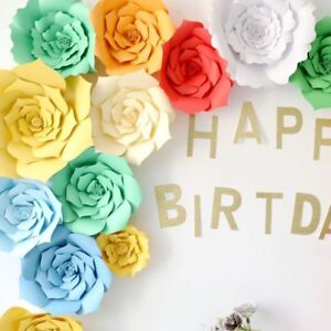 2x-Paper-Flower-Photography-Backdrop-Wall-Birthday-Wedding-Party-Decor-Craft-Set