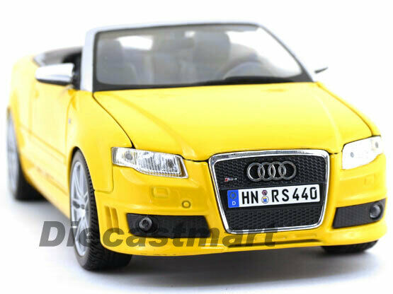 Maisto 1 18 Audi RS4 - kongrönible Pressofuso gul